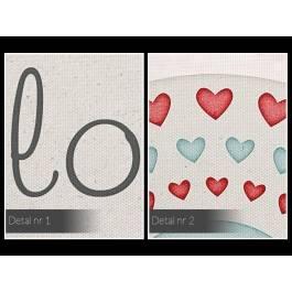 Love you always - nowoczesny obraz na płótnie