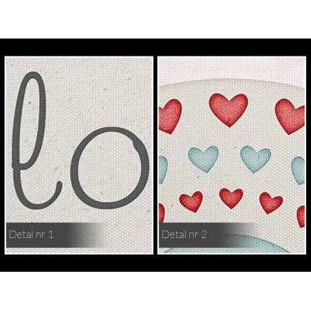 Love you always - nowoczesny obraz na płótnie - 120x80 cm