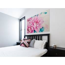 Kamelia - nowoczesny obraz do sypialni - 120x80 cm