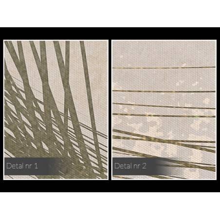 Krzywe życia - nowoczesny obraz na płótnie - 120x80 cm