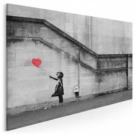 Banksy - Dziewczynka - nowoczesny obraz na płótnie