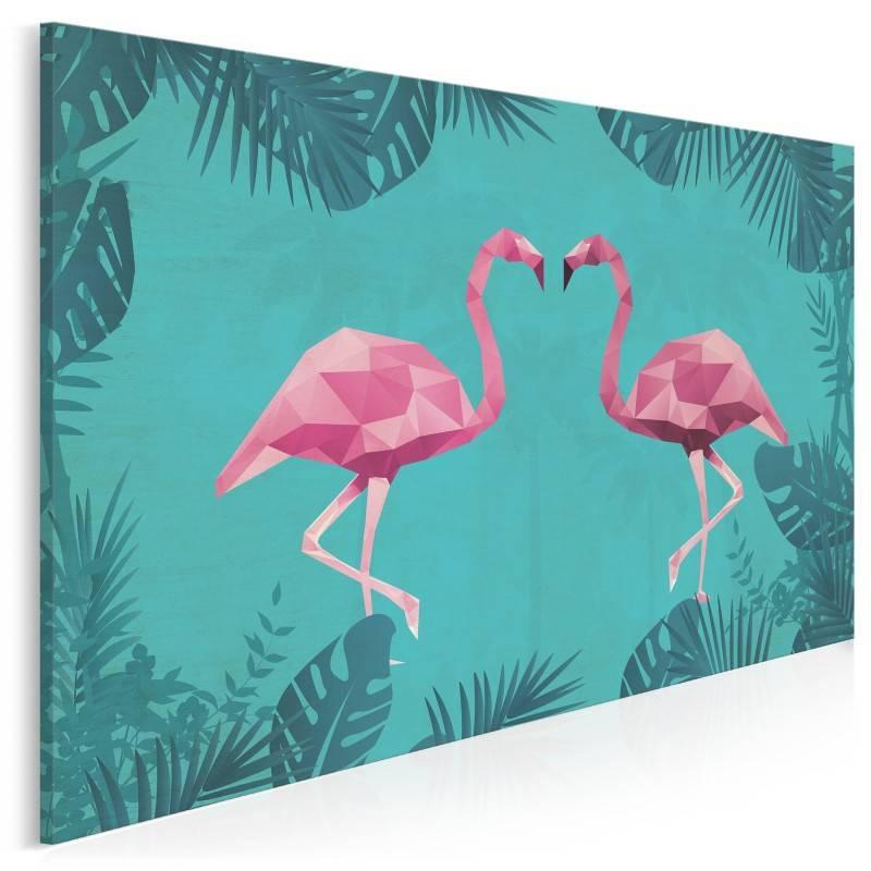 Pan i Pani Flaming - nowoczesny obraz na płótnie - 120x80 cm