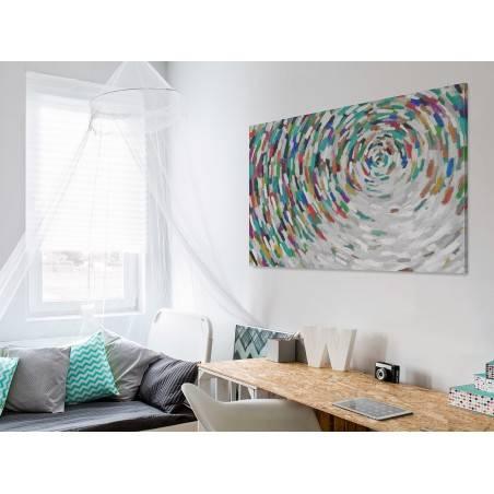 Alabastrowa tafla - nowoczesny obraz na płótnie - 120x80 cm