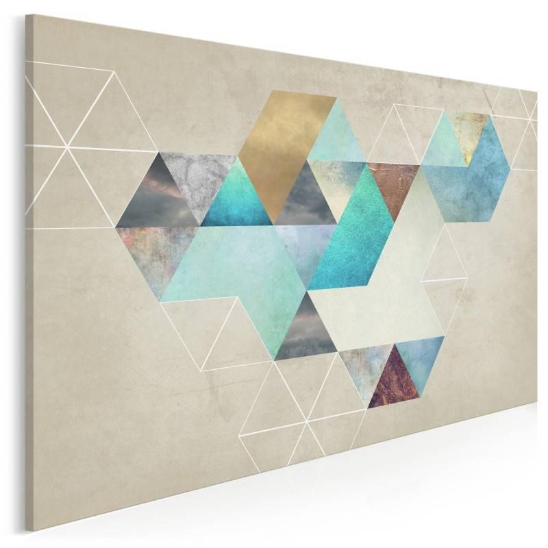 Heksagonalny przypływ - nowoczesny obraz na płótnie