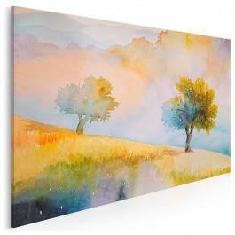 Jesienny sad - nowoczesny obraz na płótnie - 120x80 cm
