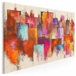 W ogniu miejskich świateł - nowoczesny obraz na płótnie