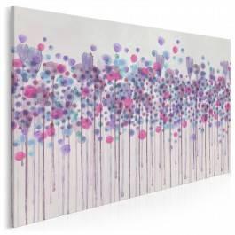 Kaligrafia mglistych wzruszeń - nowoczesny obraz na płótnie - 120x80 cm