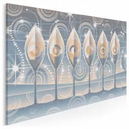 Perłowa sekwencja - nowoczesny obraz na płótnie - 120x80 cm