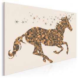 Złoty róg - nowoczesny obraz na płótnie - 120x80 cm