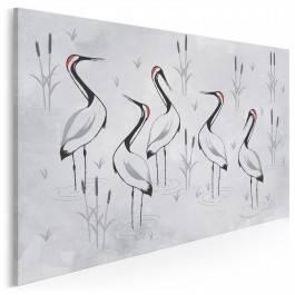 Ptasi sejmik - nowoczesny obraz na płótnie