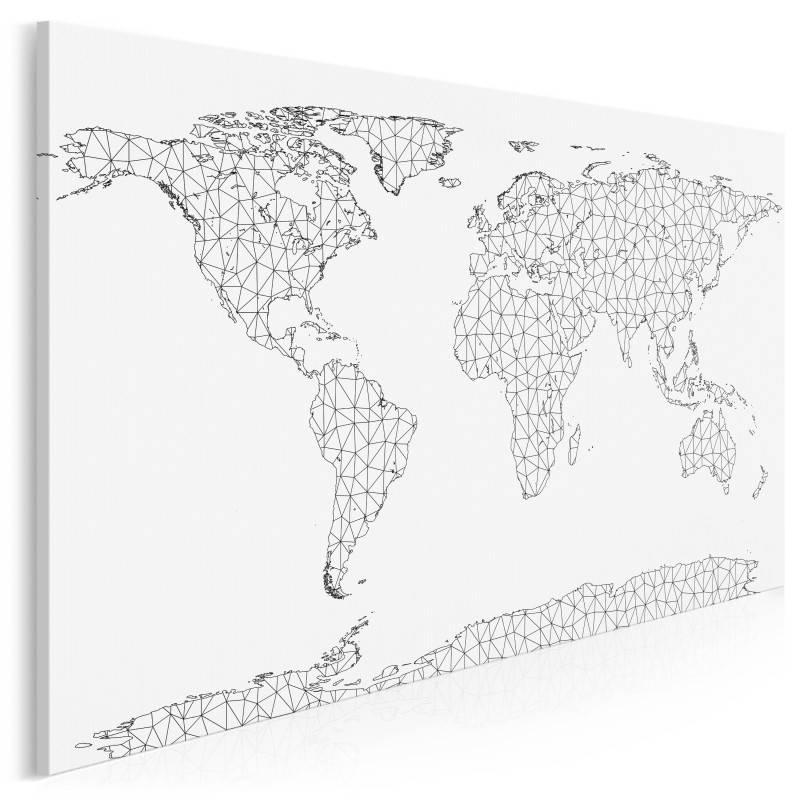Interkontynentalna sieć - nowoczesny obraz na płótnie - 120x80 cm