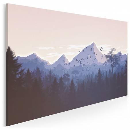 Pożegnanie lata - nowoczesny obraz do salonu - 120x80 cm