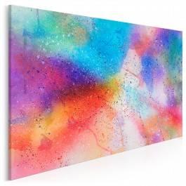 Taniec galaktyk - nowoczesny obraz na płótnie - 120x80 cm