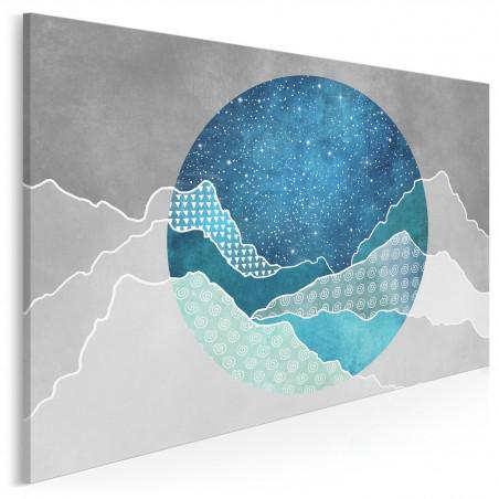 Cytadela ciał niebieskich - nowoczesny obraz na płótnie - 120x80 cm