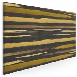 Bursztynowe kontinuum - nowoczesny obraz na płótnie - 120x80 cm