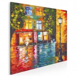 Płynący trotuar - nowoczesny obraz na płótnie - 80x80 cm