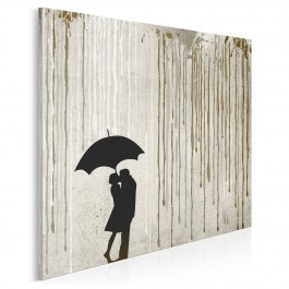 Miłosna enklawa - nowoczesny obraz na płótnie - 80x80 cm