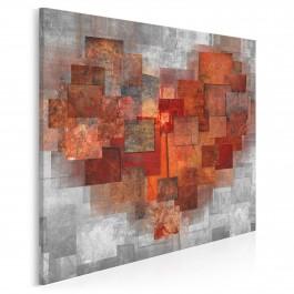 Pamiętnik uczuć - nowoczesny obraz do sypialni - 80x80 cm