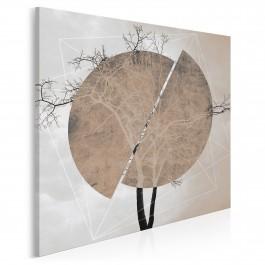 Monument awangardy - nowoczesny obraz na płótnie - 80x80 cm