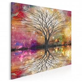 Leśne przepowiednie - nowoczesny obraz na płótnie - 80x80 cm
