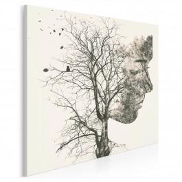 Kiełkujące idee - nowoczesny obraz na płótnie - 80x80 cm
