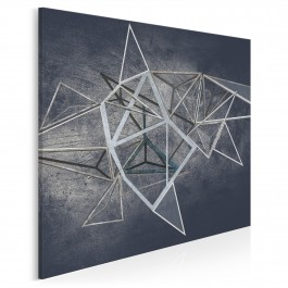 Głębia niebytu - nowoczesny obraz na płótnie - w kwadracie