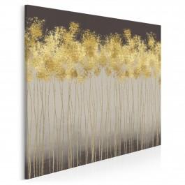 Złoty deszcz - nowoczesny obraz na płótnie - w kwadracie