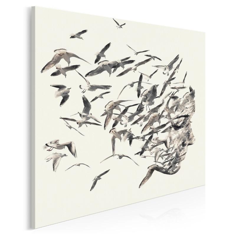 Uciekające myśli - nowoczesny obraz na płótnie - 80x80 cm