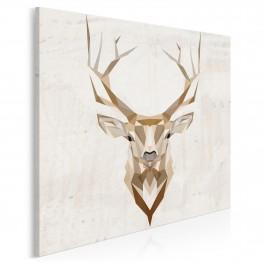 Jeleń szlachetny - nowoczesny obraz na płótnie - 80x80 cm