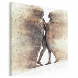 Metafizyka miłości - nowoczesny obraz na płótnie - 80x80 cm