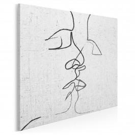 Pętla egzystencji - nowoczesny obraz na płótnie - 80x80 cm