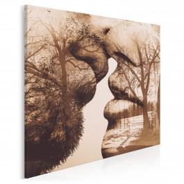 Antologia intymności - nowoczesny obraz na płótnie - 80x80 cm