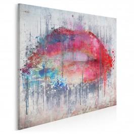 Smak słów - nowoczesny obraz na płótnie - 80x80 cm
