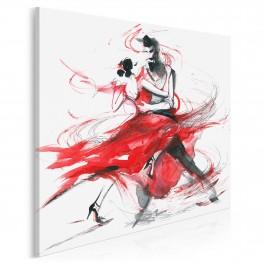 Tango - nowoczesny obraz na płótnie - 80x80 cm