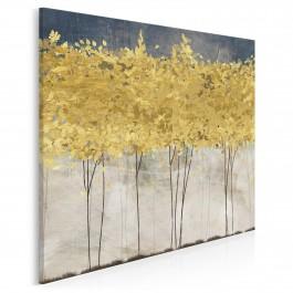 Złote żniwa - nowoczesny obraz na płótnie - w kwadracie