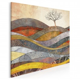 Wzgórze cudów - nowoczesny obraz na płótnie - 80x80 cm