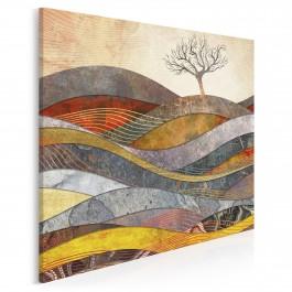 Wzgórze cudów - nowoczesny obraz na płótnie - w kwadracie