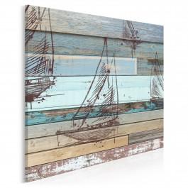 Wiatr w żagle - nowoczesny obraz na płótnie - 80x80 cm
