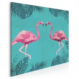 Pan i Pani Flaming - nowoczesny obraz na płótnie - w kwadracie