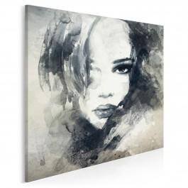 Dusza z antracytu - nowoczesny obraz na płótnie - 80x80 cm