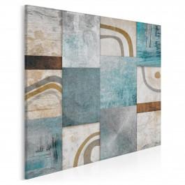 Mozaika myśli - nowoczesny obraz na płótnie - w kwadracie