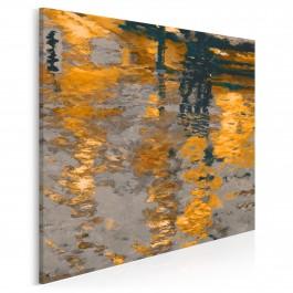 Odbicie słonecznego miasta - nowoczesny obraz na płótnie - 80x80 cm