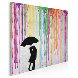 Miłosny skafander - nowoczesny obraz na płótnie - 80x80 cm