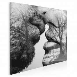 Antologia namiętności - nowoczesny obraz na płótnie - 80x80 cm