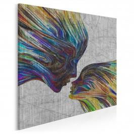 Taniec żywiołów - nowoczesny obraz na płótnie - 80x80 cm