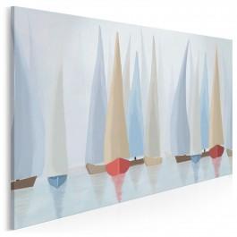 Błękitne regaty - nowoczesny obraz na płótnie - 120x80 cm