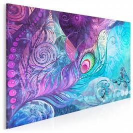 Zaklęte pióro - nowoczesny obraz do sypialni - 120x80 cm