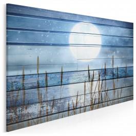 Księżycowy dryf - nowoczesny obraz na płótnie - 120x80 cm
