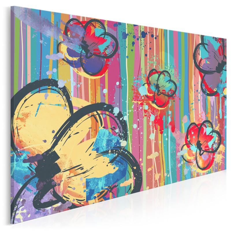 Bukiet optymizmu - nowoczesny obraz na płótnie - 120x80 cm