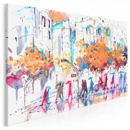 Antropologia codzienności - nowoczesny obraz na płótnie - 120x80 cm